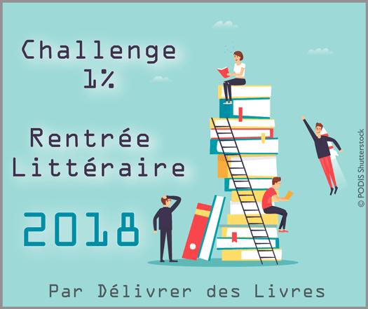 Challenge 1% Rentrée Littéraire 2018