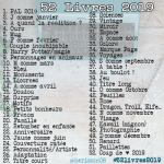 Challenge 52 livres 2019 Instagram #52livres2019