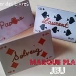 DIY#2 Marque places en carte à jouer