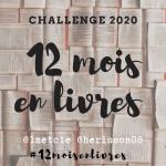 12 mois en livres ~ Challenge 2020